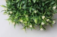 шар декоративный зеленый полянка d=15см