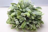 Шар декоративный зеленый Полынь с цветами D=15см 1шт.
