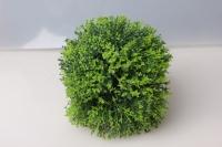 Шар декоративный зеленый пушистый D=15см