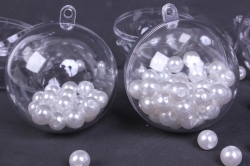 Шар прозрачный d= 6см пластик (из 2-х половинок)  (5 шт в уп)  1468  SKB-60