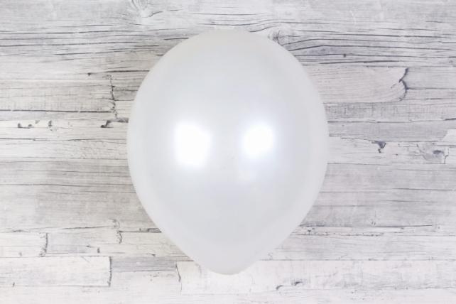 "Шар (12""/30см) Белый (800), металлик, 100шт Арт.711019"