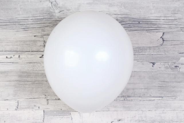 """Шар (12""""/30см) Белый, пастель, 100шт Арт.612101"""