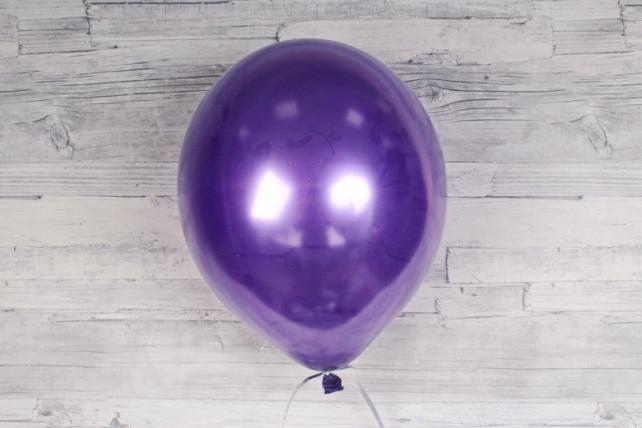"""Шар (12""""/30см) Фиолетовый (863), металлик, 100шт Арт.711049"""