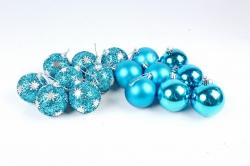 Шары декор НГ d=7см синие (16шт в уп) 661