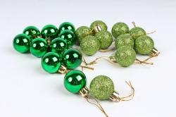 Шары декор НГ d=3см зеленые (20шт в уп)