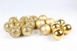 Шары декор НГ d=7см золото (16шт в уп) 661
