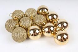 Шары декор НГ d=5см золото (12шт в уп) 510