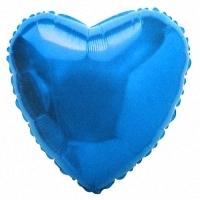 Шары фольгированные с гелием (46см) Сердце, Синий (1шт)