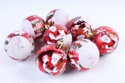 Шары новогодние (d-6см) (8шт) DN-31560 (И)