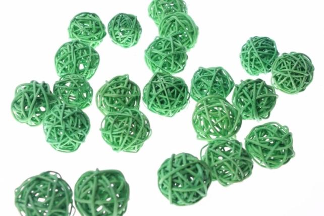 Шары ротанг малые  d=3см микс - Зелёный