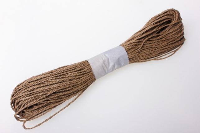 шнур бумажный коричневый 2мм х 47 м