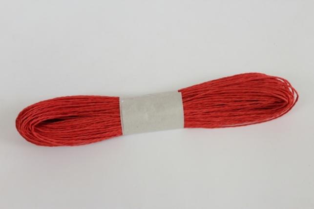 шнур бумажный красный 2мм*47 м spg78