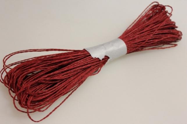 шнур бумажный красный 2мм х 47 м