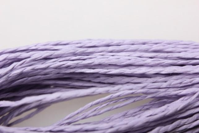 шнур бумажный лаванда 2мм х 47 м