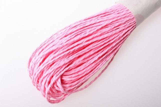 шнур бумажный розовый 2мм х 47 м