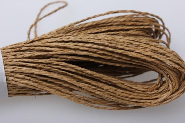 шнур бумажный светло-коричневый  2мм х 47 м