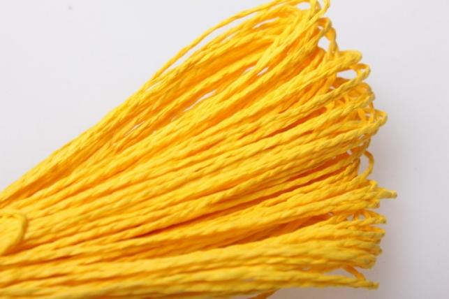 Шнур бумажный Ярко-желтый 2мм х 47 м