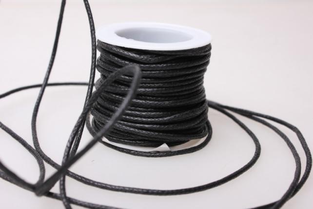 Шнур декоративный на катушке  2мм*10м - Чёрный