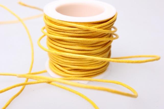 Шнур декоративный на катушке  2мм*10м - Жёлтый
