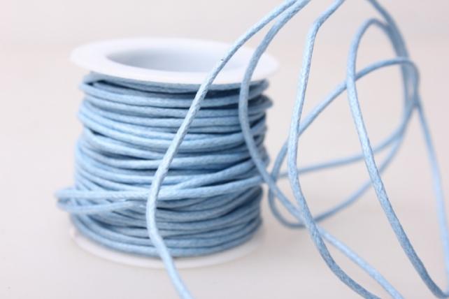 Шнур декоративный на катушке  2мм*10м - Голубой