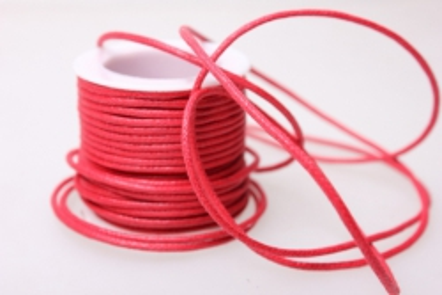 Шнур декоративный на катушке  2мм*10м - Красный
