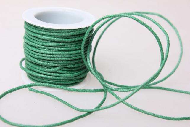 Шнур декоративный на катушке  2мм*10м - Зелёный