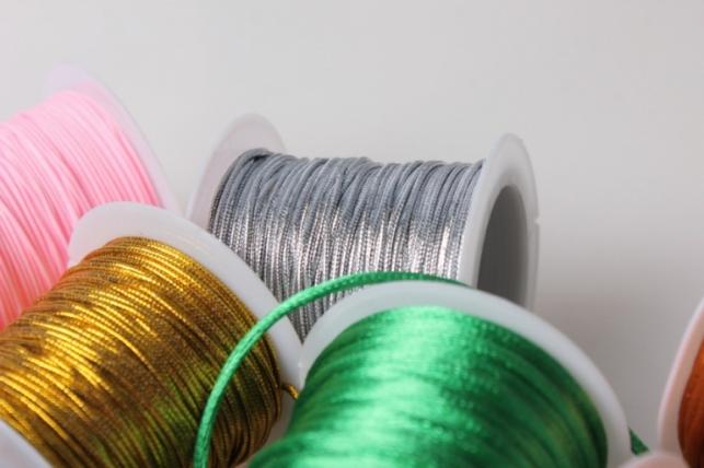 шнур декоративный на катушке. цвета в ассортименте. 9141