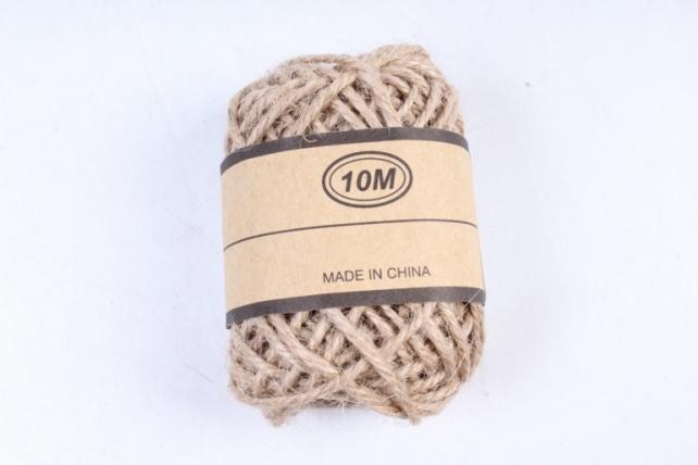 Шнур декоративный натуральный 10м ЛС881-42  М