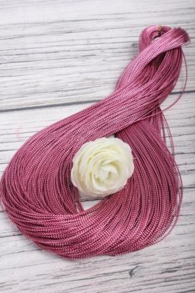 Шнур из искусственных нитей розовый 1ммх100м  SN205