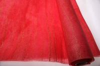 Сизаль искуст. на цвет. ф. с люриксом (53см 5м) - Красный