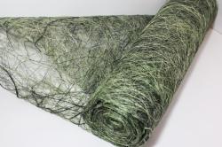 Сизалевое полотно  0,5х9м Микс Салатово-оливковая