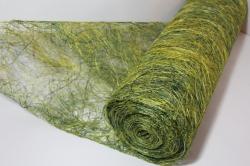 Сизалевое полотно  0,5х9м Микс Салатово-зелёная