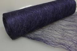 Сизалевое полотно Фиолетовое натуральное 48смх9м А39