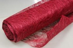 Сизалевое полотно  Красное  натур.  48см х 9м 1490
