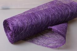 Сизалевое полотно Пурпурный натуральный 48см х 9м А43