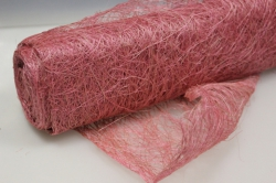 Сизалевое полотно  Розовое натур.  48см х 9м 1605