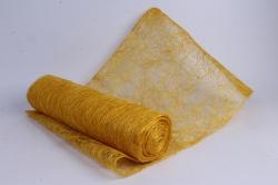 сизалевое полотно  ярко-желтое  натур.  48смх9м  8031