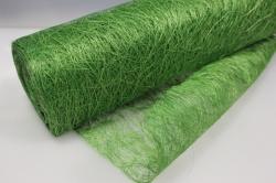 Сизалевое полотно  Ярко-зелёный натур.  48см х 9м  8000