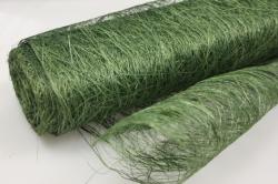 Сизалевое полотно  Зеленое натур.  48см х 9м  1544