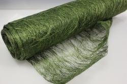 Сизалевое полотно  Зеленое натур.  48см х 9м  8017