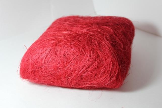 Сизалевое волокно (100гр) в пакете Красное