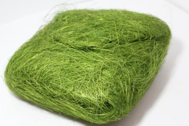Сизалевое волокно (100гр) в пакете Оливковое