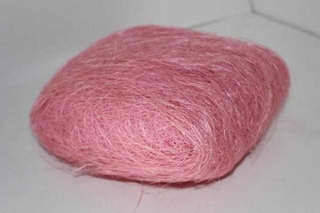 Сизалевое волокно (100гр) в пакете Розовое