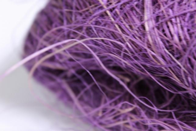 сизалевое волокно - фиолетовое (50гр)