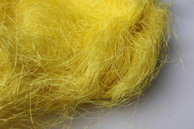 сизалевое волокно желтое (100гр) в пакете