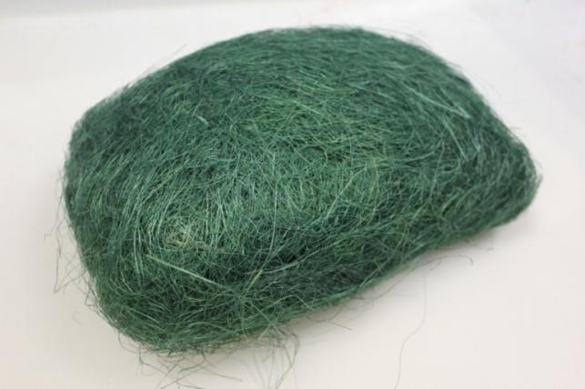 Сизалевое волокно Изумрудый (100гр) в пакете