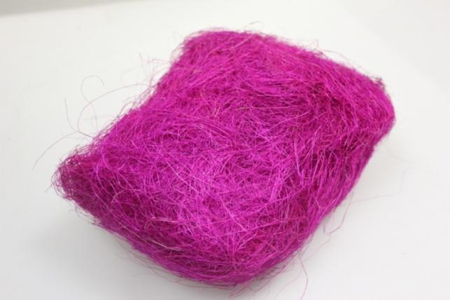 Сизалевое волокно Малиновый (100гр) в пакете