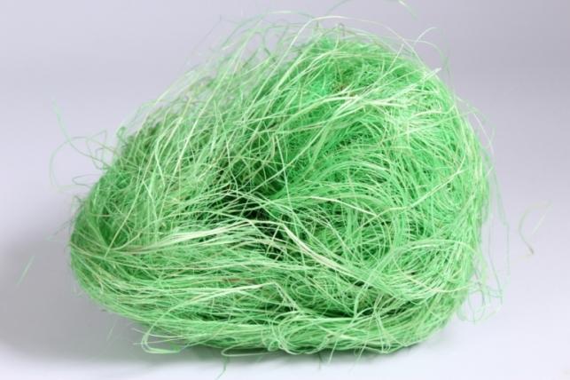 Сизалевое волокно - солнечный лайм (50 гр)