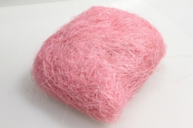 Сизалевое волокно Светло розовое (100гр) в пакете