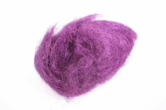 сизалевое волокно - тёмно-фиолетовое (100гр) в пакете